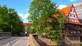 NUREMBERG, GERMANY - CIRCA MAY 2019: View on daily life in the centre of the city circa May 2019 in Nuremberg, Germany.