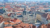 GRAZ, AUSTRIA - CIRCA AUGUST 2019: Aerial view on historic Architecture of the city circa August 2019 in Graz, Austria.