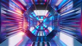 raumschiff : 3D rendered Animation of a science fiction architecture tunnel of a spaceship or station. Stock Footage