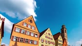 View on historic Architecture in Dinkelsbuehl in Bavaria in Germany.
