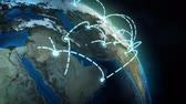 cartography : global network Stock Footage