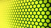 estrelado : Bright yellow background with hexagon