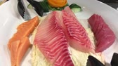 ringa : sashimi fish dish Stok Video