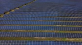 energia odnawialna : Aerial view of solar farm in South of France