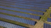 prąd : Aerial view of solar farm in South of France