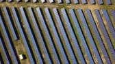 renewable : Aerial view of solar farm in South of France