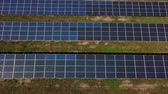solar energy : Aerial view of solar farm in South of France