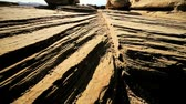 provocação : Striations in rock formations caused by natural wind & water erosion