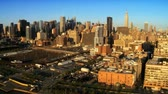 chrysler building : Aerial view of Midtown Manhattan and Road System, New York City, North America, USA Stock Footage