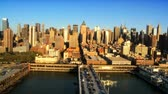 chrysler building : Aerial view of Midtown Manhattan and Piers, New York City, North America, USA