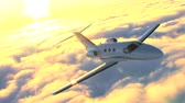 corporate : Air to air luxury corporate jet being used for modern business travel Stock Footage