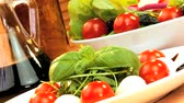 уксус : Tempting selection of fresh salad, cheese & oils making a healthy nutritious meal