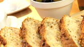 уксус : Selection of fresh organic breads baked with healthy nuts & seeds and served with olives & pouring oil