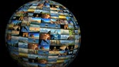 europe : Moving travel globe of postcard views & pictures