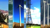 renewable sources : Graphics of images of clean renewable energy sources on a seamless loop Stock Footage