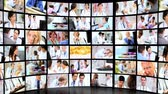 healthcare : Montage video wall images hospital patient diagnosis and treatment with modern pharmaceutical prescribed medicines