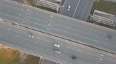 junção : Aerial Footage of Highway with cars and trucks Vídeos