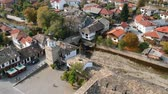 Tryavna aerial panorama the clock tower Wideo