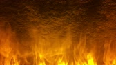 fundo abstrato : A wall of fire and smoke slow motion loop