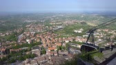 Cable car in San Marino Stock Footage