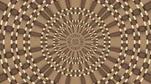 фрактальный : Wicker pattern. Colorful looping kaleidoscope sequence. Abstract motion graphics background. Стоковые видеозаписи