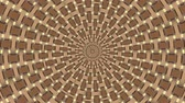 Wicker pattern. Colorful looping kaleidoscope sequence. Abstract motion graphics background. 무비클립