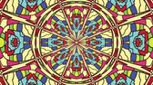 floral ornament : Colorful looping kaleidoscope sequence. Abstract motion graphics background.