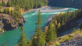 Turquoise Katun River in the Altai Mountains, Altai Republic, Russia