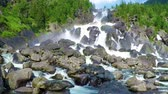 altay : Waterfall Uchar. Altai mountains, Siberia Russia. HD, slow motion