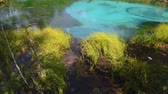 해초 : Blue geyser lake in Altay mountains. Time lapse. Siberia. Russia 무비클립