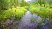 해초 : Blue geyser lake in Altay mountains. Siberia. Russia. Panorama 무비클립