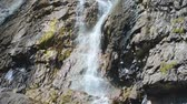 north stream : Shirlak waterfall in rocks. Altai Mountains, Altay Republic, Siberia, Russia