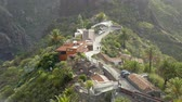 mountain village masca tenerife Stock Footage