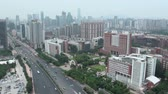 Horizonte de Guangzhou y el campus universitario. Archivo de Video