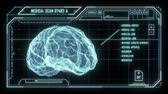 usuário : Holographic Brain Scan HUD Stock Footage