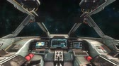 ficção científica : Spaceship Cockpit Interior - Space Travel