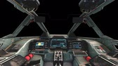 ficção científica : Spaceship Cockpit Interior with Transparency