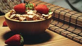 musli : Strawberries with cereals
