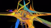 physik : Abstract motion background with alpha channel, loopable Stock Footage