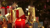 Glasses with champagne - New Year and Christmas decoration - 4 k