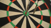 triunfar : Dart board close up, centered bullseye Vídeos