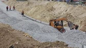 steamroller : installation of curbs - builders and road machinery