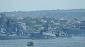 Russian military ships - Military-Navy parade Fleet Day of Russia - 31, July, 2016, Sevastopol, Crimea