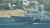 Modern warships and submarines - Military-Navy parade Fleet Day of Russia - 31, July, 2016, Sevastopol, Crimea