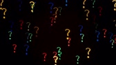 запрос : Colorful question mark blinking lights as abstract background.  Стоковые видеозаписи