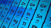 bilimsel : Periodic table of elements, conceptual animation for chemical science Stok Video
