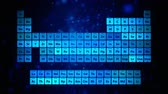 charts : Periodic table of elements, conceptual animation for chemical science Stock Footage
