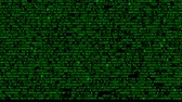 шифрование : Computer code on the screen, green symbols as abstract background