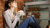hidrasyon : Portrait of Young Woman Drinking Hot Coffee