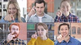 pihy : Collage of Young People Pointing With Finger